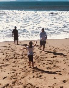 Jason and the kids @ Oxnard beach, CA